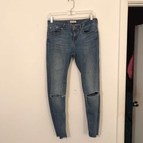 7b3faffc Zara Jeans | Premium Denim Collection Blue Ripped | Poshmark